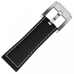 Marc Coblen / TW Steel Watch Strap Black Leather 22mm