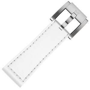 Marc Coblen / TW Steel Watch Strap White Leather Smooth 22mm