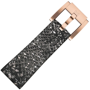 Marc Coblen / TW Steel Watch Strap Gray Glamour Leather Snake 22mm