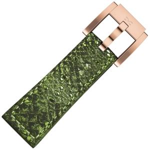 Marc Coblen / TW Steel Watch Strap Green Glamour Leather Snake 22mm