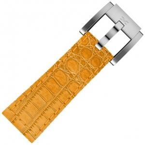 Leather Marc Coblen Watch Strap Orange Alligator 22mm