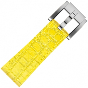 Leather Marc Coblen Watch Strap Yellow Alligator 22mm