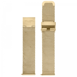 William L. Watch Band Mesh Gold Woven Steel 20mm