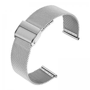Mesh Milanaise Watch Bracelet Finely Woven Steel