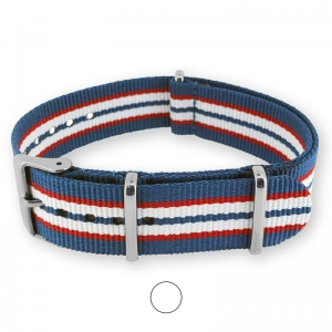 Blue Red White NATO G10 Military Nylon Strap