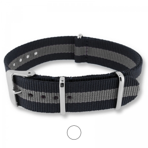 Regimental Black Gray NATO G10 Military Nylon Strap