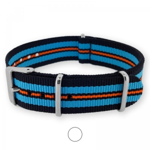 Black Sky Blue Orange NATO G10 Military Nylon Strap