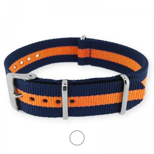 Regimental Navy Orange NATO G10 Military Nylon Strap