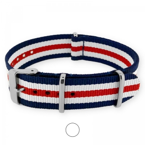Blue White Red NATO G10 Military Nylon Strap