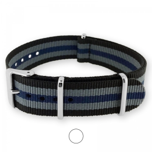 Black Gray Blue NATO G10 Military Nylon Strap