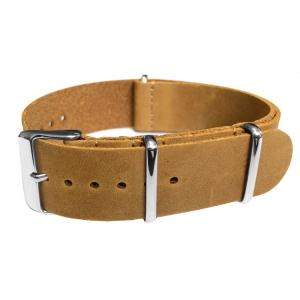 Light Brown NATO Vintage Leather Strap - SS
