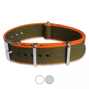 Army Green Orange Seatbelt NATO Deluxe Nylon Strap