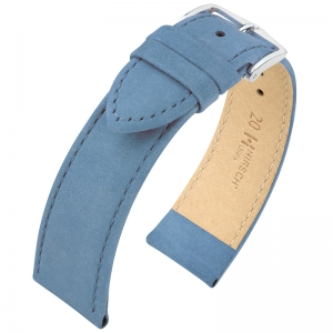 Hirsch Osiris Watch Strap Nubuck Leather Blue - Limited Edition