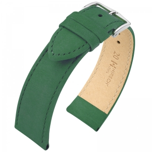 Hirsch Osiris Watch Strap Nubuck Leather Green - Limited Edition