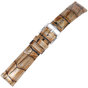 Hirsch Princess Pretiosa Watchband Alligatorgrain Bronze