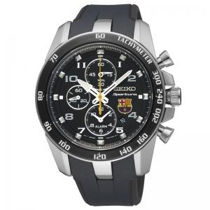 Seiko Sportura FC Barcelona Watch Strap SNAE93P1 Black Rubber