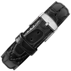 Daniel Wellington 17mm Dapper Reading Black Leather Watch Strap Stainless Steel Buckle
