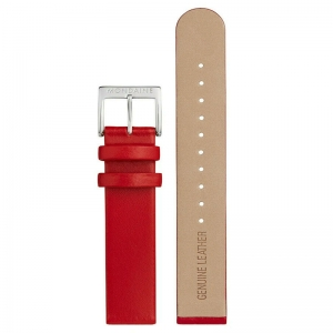 Mondaine Watch Band Red Leather