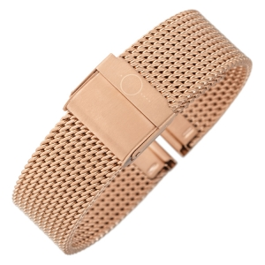 bandOh Mesh Milanaise Watch Bracelet Fine Woven Steel Rose Gold