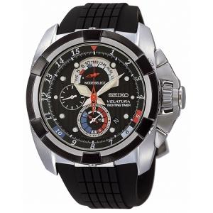 Seiko Velatura Chronograph Watch Strap SPC007P1 SPC041P1 Black Rubber