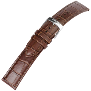 Seiko Watch Strap Alligator Grain Calf Skin Brown - 20 mm