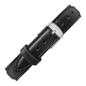 Daniel Wellington 13mm Classy Sheffield Black Leather Watch Strap Stainless Steel Buckle
