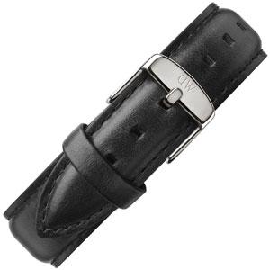 Daniel Wellington 20mm Classic Sheffield Black Leather Watch Strap Steel Buckle