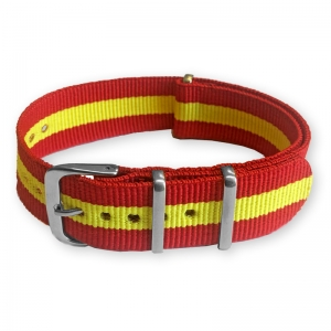 "Red Yellow ""Spain"" NATO Nylon Strap"