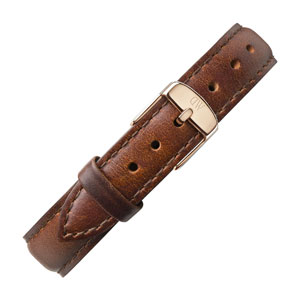 Daniel Wellington 13mm Classy St Mawes Brown Leather Watch Strap Rosegold Buckle