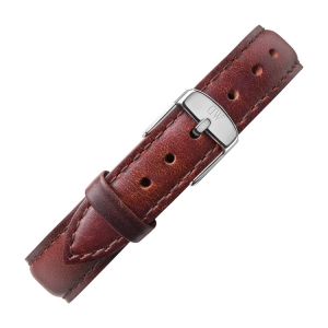 Daniel Wellington 14mm Petite St Mawes Brown Leather Watch Strap Stainless Steel Buckle
