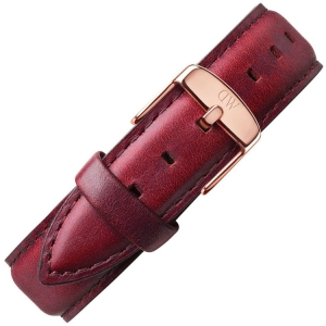 Daniel Wellington 18mm Classic St Mawes Brown Leather Watch Strap Rosegold Buckle