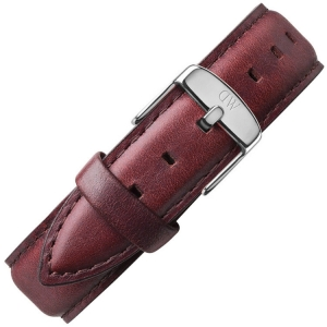 Daniel Wellington 18mm Classic St Mawes Brown Leather Watch Strap Stainless Steel Buckle