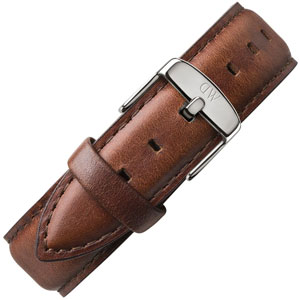 Daniel Wellington 20mm Classic St Mawes Brown Leather Watch Strap Steel Buckle
