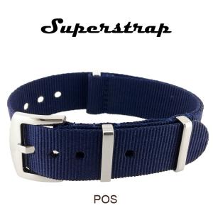 Superstrap MEGA NATO Nylon Strap Blue - SS/Matte