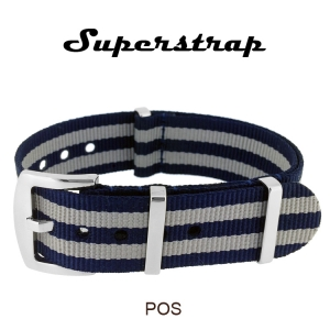 Superstrap MEGA NATO Nylon Strap Blue Bond - SS/Matte
