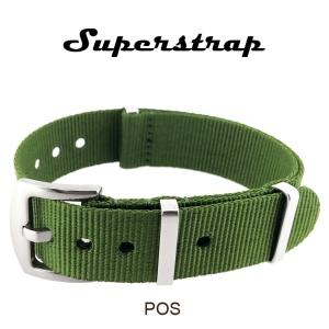 Superstrap MEGA NATO Nylon Strap Green - SS/Matte