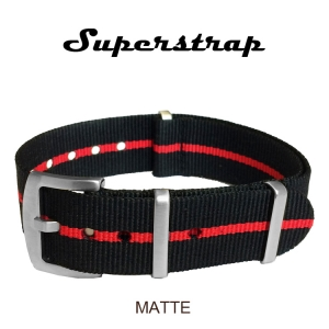 Superstrap MEGA NATO Nylon Strap Red Skunk - Matte