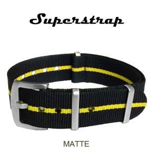 Superstrap MEGA NATO Nylon Strap Yellow Skunk - Matte