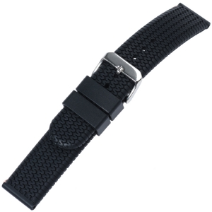 Racing Tyre Watch Strap Silicone Black
