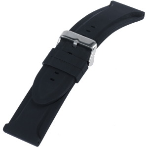 Silicone Rubber Watch Band Big Black
