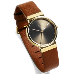 Jacob Jensen Watch Band 854 brown leather 17mm
