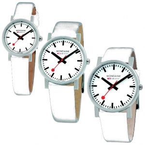 Mondaine Watch Band White Leather