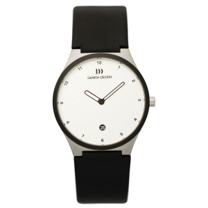 Watch Strap Danish Design IV12Q884, IV13Q884 - black leather