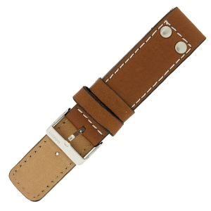 OOZOO Watch Band Cognac Leather with Studs