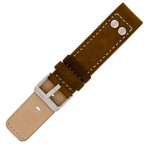 OOZOO Watch Band Brown Leather with Studs