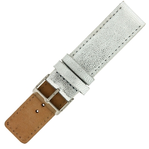OOZOO Watch Band Silver Leather