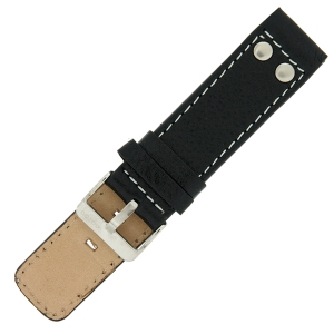 OOZOO Watch Band Black Leather with Studs