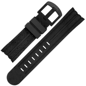 TW Steel Watch Band TW75, TW102, TW256, TW705 - Black Rubber 24mm