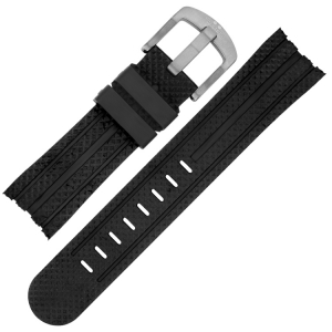 TW Steel Watch Band TW73, TW84, TW85, TW701 - Black Rubber 24mm