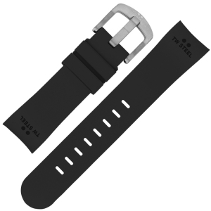TW Steel Watch Band TW25, TW26, TWA25, TWA26, TW41 - Black Rubber 24mm